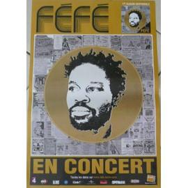 Féfé - AFFICHE MUSIQUE / CONCERT / POSTER