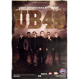 UB40 - 35th Anniversary - AFFICHE MUSIQUE / CONCERT / POSTER