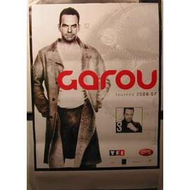 GAROU - AFFICHE MUSIQUE / CONCERT / POSTER