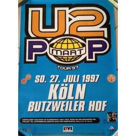U2 - KöLN Tour 1997 - AFFICHE MUSIQUE / CONCERT / POSTER