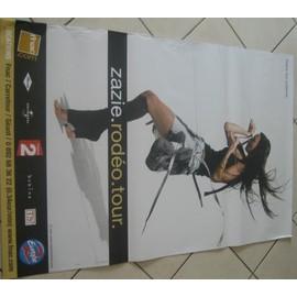 ZAZIE - Rodeo - AFFICHE MUSIQUE / CONCERT / POSTER