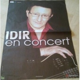 Idir - AFFICHE MUSIQUE / CONCERT / POSTER