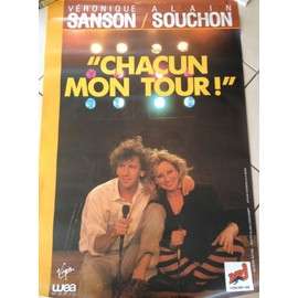 Alain SOUCHON - Véronique SANSON - Chacun Mon Tour - AFFICHE MUSIQUE / CONCERT / POSTER