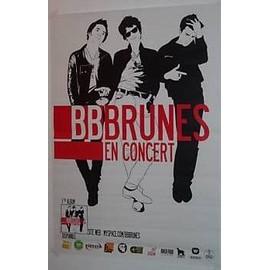 BB Brunes - AFFICHE MUSIQUE / CONCERT / POSTER
