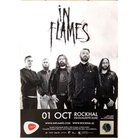 In Flames - AFFICHE MUSIQUE / CONCERT / POSTER