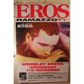 Ramazzotti Eros - AFFICHE MUSIQUE / CONCERT / POSTER