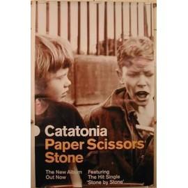 Catatonia - Paper Scissors Stone - AFFICHE MUSIQUE / CONCERT / POSTER