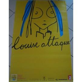 Louise Attaque - AFFICHE MUSIQUE / CONCERT / POSTER