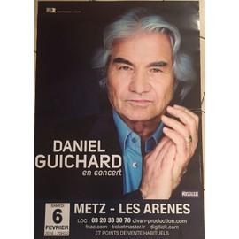 Daniel GUICHARD - en Concert - AFFICHE MUSIQUE / CONCERT / POSTER