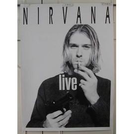 Nirvana - Live - AFFICHE MUSIQUE / CONCERT / POSTER