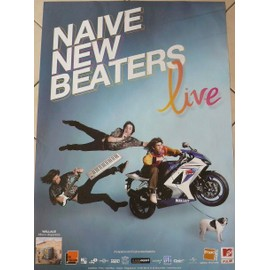 Naive New Beaters - AFFICHE MUSIQUE / CONCERT / POSTER