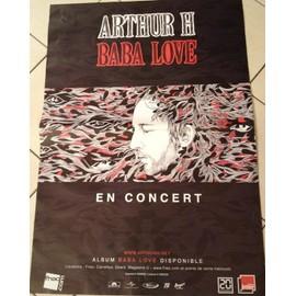 Arthur H - Baba Love - En Concert - AFFICHE MUSIQUE / CONCERT / POSTER