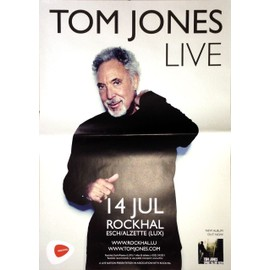 Tom Jones - AFFICHE MUSIQUE / CONCERT / POSTER