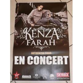 KENZA FARAH - AFFICHE MUSIQUE / CONCERT / POSTER