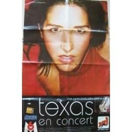 Texas - AFFICHE MUSIQUE / CONCERT / POSTER