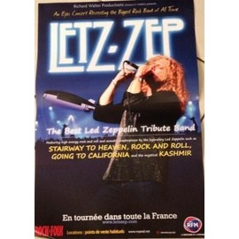 Letz-Zep - Tribute To Led Zeppelin - AFFICHE MUSIQUE / CONCERT / POSTER
