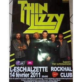 Thin Lizzy - AFFICHE MUSIQUE / CONCERT / POSTER