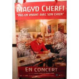 MAGYD CHERFI - Pas en Vivant Avec Son Chien - AFFICHE MUSIQUE / CONCERT / POSTER