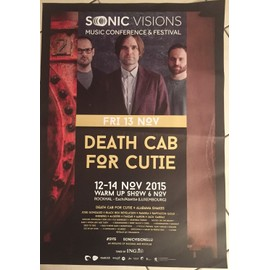Death Cab For Cutie - AFFICHE MUSIQUE / CONCERT / POSTER