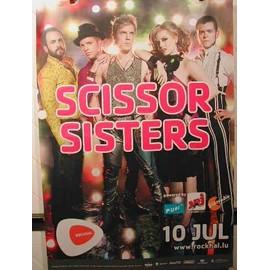 SCISSOR SISTERS - AFFICHE MUSIQUE / CONCERT / POSTER