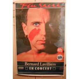Lavilliers Bernard - Feu Sacré - AFFICHE MUSIQUE / CONCERT / POSTER