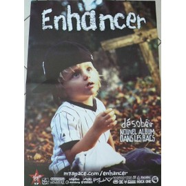 Enhancer - Désobeir - AFFICHE MUSIQUE / CONCERT / POSTER