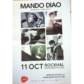 MANDO DIAO - AFFICHE MUSIQUE / CONCERT / POSTER