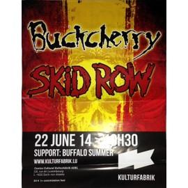 Buckcherry / Skid Row - AFFICHE MUSIQUE / CONCERT / POSTER