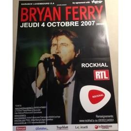 Bryan FERRY - AFFICHE MUSIQUE / CONCERT / POSTER