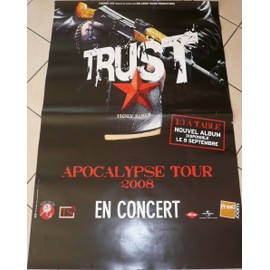TRUST - 2008 - AFFICHE MUSIQUE / CONCERT / POSTER