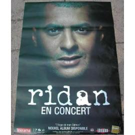 RIDAN - AFFICHE MUSIQUE / CONCERT / POSTER