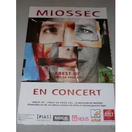 MIOSSEC - AFFICHE MUSIQUE / CONCERT / POSTER
