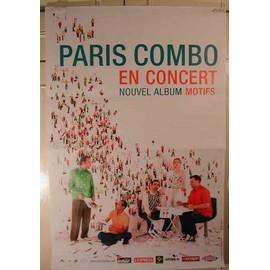 Paris Combo - AFFICHE MUSIQUE / CONCERT / POSTER