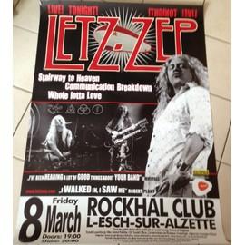 Letz Zep - Led Zeppelin - AFFICHE MUSIQUE / CONCERT / POSTER