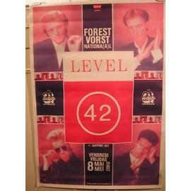 Level 42 - AFFICHE MUSIQUE / CONCERT / POSTER