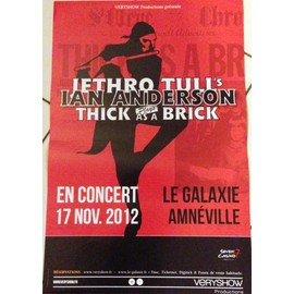 Jethro Tull - Ian Anderson - AFFICHE MUSIQUE / CONCERT / POSTER
