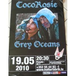 Coco Rosie - Grey Oceans - AFFICHE MUSIQUE / CONCERT / POSTER