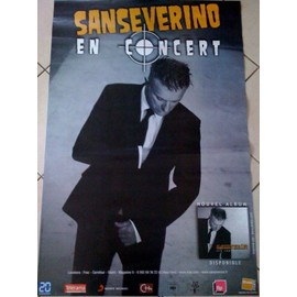 SANSEVERINO - AFFICHE MUSIQUE / CONCERT / POSTER