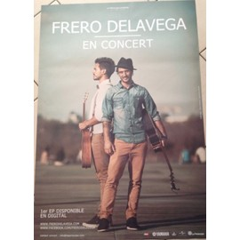 Frero DELAVEGA - AFFICHE MUSIQUE / CONCERT / POSTER