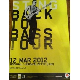 STING - Back To Bass Tour - AFFICHE MUSIQUE / CONCERT / POSTER