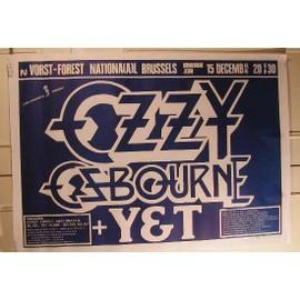 Osbourne Ozzy - AFFICHE MUSIQUE / CONCERT / POSTER