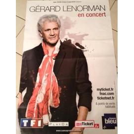 Gérard LENORMAN - En Concert - AFFICHE MUSIQUE / CONCERT / POSTER
