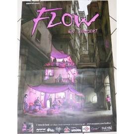 FLOW - L'âme de Fond - AFFICHE MUSIQUE / CONCERT / POSTER