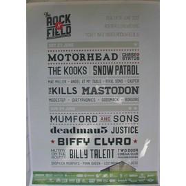 Motörhead - the Rock A Field - AFFICHE MUSIQUE / CONCERT / POSTER