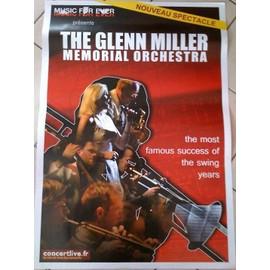 Glenn Miller Memorial Orchestra - AFFICHE MUSIQUE / CONCERT / POSTER