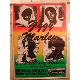 Marley Ziggy - AFFICHE MUSIQUE / CONCERT / POSTER