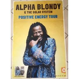 Alpha BLONDY - Positive Energy Tour - AFFICHE MUSIQUE / CONCERT / POSTER