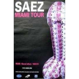 SAEZ - Miami - AFFICHE MUSIQUE / CONCERT / POSTER