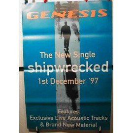GENESIS - Shipwrecked - AFFICHE MUSIQUE / CONCERT / POSTER