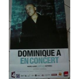 Dominique A - La musique - AFFICHE MUSIQUE / CONCERT / POSTER